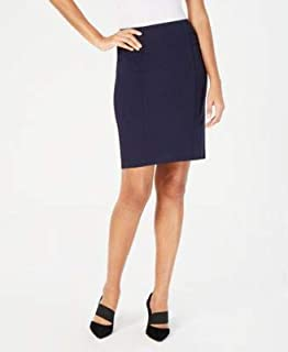 ALFANI Womens Navy Above The Knee Pencil Wear To Work Skirt US Size: 18