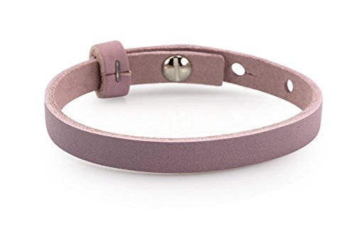 Lederarmband - lila, 23cm, Schmuck- Armband für Schiebeperlen