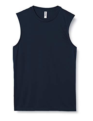 [グリマー] 袖無 3.5オンス インターロック ドライ ノースリーブ 00353-AIN ネイビー M (日本サイズM相当)