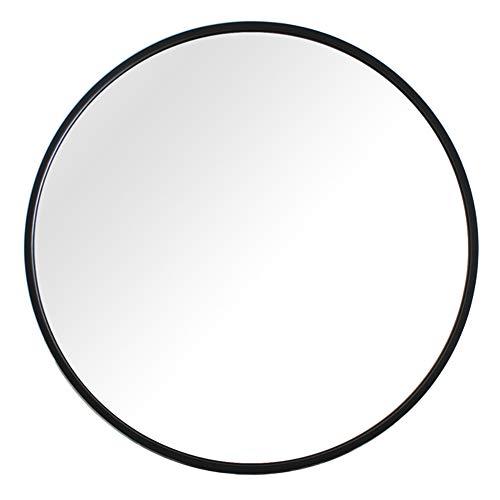 Nordic Bathroom Mirror Round Wall Mounted Mount Metal Framed Makeup Cosmetic Vanity for Washroom Entryway Bedroom Hanging/Black Gold