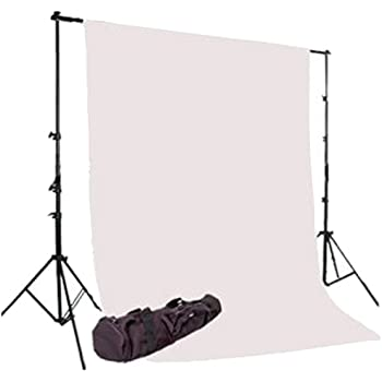 CowboyStudio Photography 6X9ft White Muslin Backdrop with Support System and Carry Bag