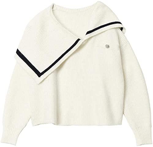 Vintage Peter pan collar suéter de las mujeres otoño coreano casual de punto de manga larga jersey femenino suéteres de los suéteres Tops