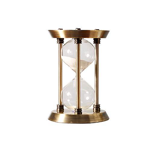 Guoc Zeitmesser Stundenglas Sanduhren Timer für Kinder,60 Minuten Metall-Sanduhr,Sanduhr Deko für Zuhause und Restaurant,Wohnzimmer,Kinderzimmer
