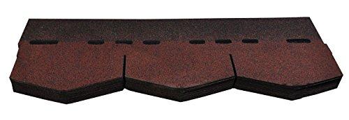 Bitumenschindeln Dachschindeln Dreieck Schindel Glasvlies Dachpappe Bitumen rot gefl. 3 m²