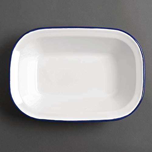 6x Olympia esmalte bandeja plato Rectangular 280x 190mm para el horno para horno cocina