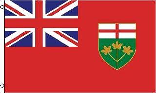 Ontario Flag 3' x 5' - Canada - Canadian Region of Ontario Flags 90 x 150 cm - Banner 3x5 ft - AZ FLAG