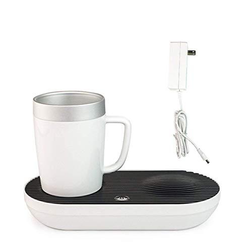EMOOJOO Tasse Intelligente de Bureau de Chauffage et de Refroidissement, Mini-réfrigérateur, Tasse de café Froide et Chaude 2 en 1 pour Le Bureau à Domicile, avec Adaptateur Secteur