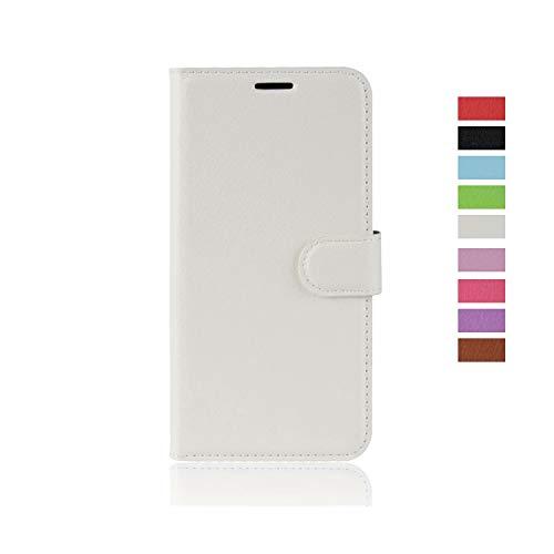 cookaR Samsung Galaxy A20e Handy Hülle Tasche Flip Hülle Kredit Karten Fach Geldklammer Leder Handy Schutzhülle Unsichtbar Magnet Verschluss Standfunktion,Weiß