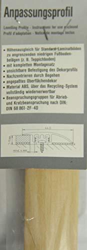 Anpassungsprofil für Laminat 7-11mm Buche Hell mit UP