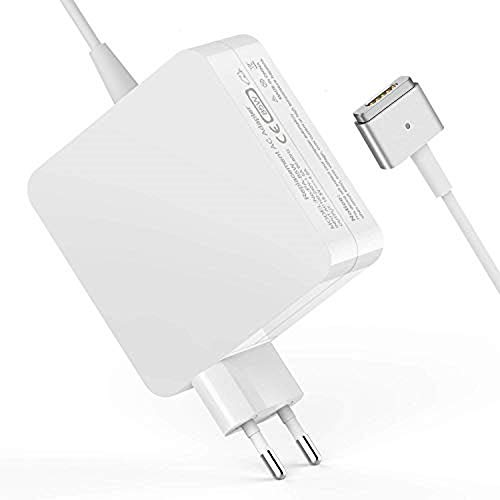 MacBook Air Ladegerät, 45W Magsafe 2 Magnetische T-Spitze Power Adapter Netzteil Ladekabel für MacBook Air 11 und 13 Zoll (ab Mitte 2012) für Modell A1435 A1436 A1465 A1466