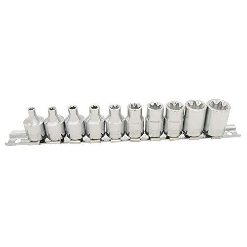 PWT 3/8インチ9.5mm E型トルクスソケットセット E4,E5,E6,E7,E8,E10,E12,E14,E16,E18 IES38SET