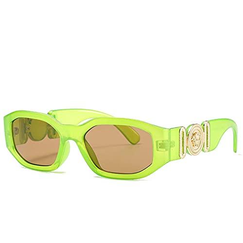 AMFG Pequeño marco Gafas de sol Hombres y mujeres Trend Gafas de sol Deportes Playa al aire libre Viajes (Color : E)