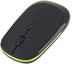 ماوس لاسلكية صغيرة فائقة النحافة 2.4 جيجاهرتز باتصال USB، و1600 نقطة لكل بوصة، متوافقة مع اجهزة اللاب توب