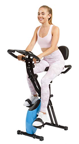 Vergo Exercise Bike 3 in 1 Adjustable Multi-Functional Foldable Recumbent Stationary Bicycle with Arm Bands