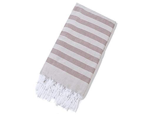 Heliansheng Toalla de salón de Yoga de algodón a Rayas Manta de baño Turco Borla SPA Sauna Toalla 100x180cm -11-100x180cm