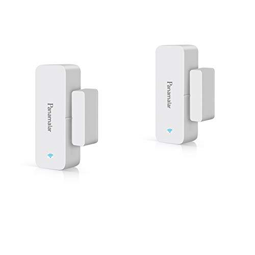 Panamalar Wireless Türfenstersensor, Niedriger Energie Tür&Fensteralarm kompatibel mit Alexa/Google-Assistent, Auto Erkennung passt für Türen, Fenster und Schränke, Wohnungen und Büro (2 Stück)