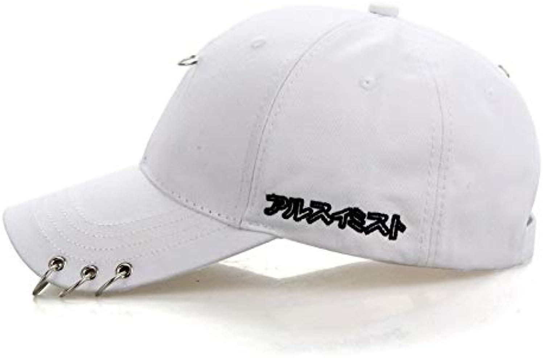 AAMOUSE Mens Hats BTS Jimin K Pop Iron Ring Hats Adjtable Baseball Cap Hip Hop Hat New