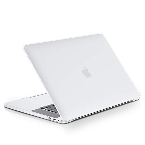 lention Estuche rígido con Tapones Antipolvo compatibles con MacBook Pro (16 Pulgadas, 2019, Modelo A2141), Acabado Mate con Patas de Goma (Transparente)