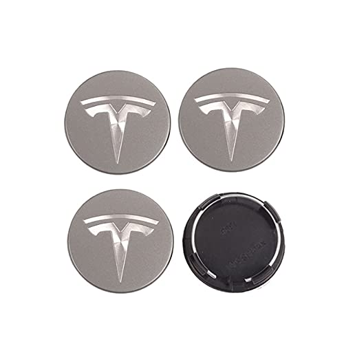 RHGEIUCY 4pcs 56 mm Cubiertas de Control de automóviles Cubiertas de Ruedas para Tesla Modelo S X 3 Y Accesorios de Roadster Center Cap para Llantas AutoTyre Hub Decoración