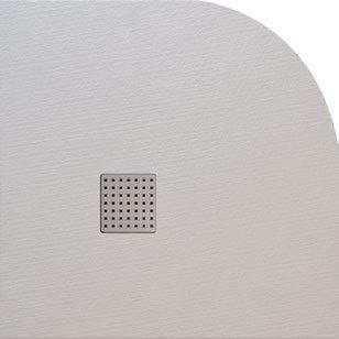 PLATO DE DUCHA RESINA SEMICIRCULAR (90 X 90, BLANCO)