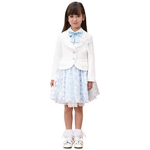 [DECORA PINKY'S] 入学式 女の子 小学生 (フォーマルワンピース 5点セット) ジャケット ワンピース 卒園式 [リボン付き] 子供服 キッズ ガールズ (110cm~130cm)