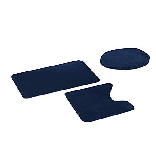 NGHXZ 3-delige wc-deken, antislip, vis, ladder, badmat, keuken tapijt, vloermat, decoratie, warm, zacht, wc-deken