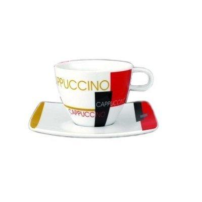 2 tazas de café con plato de base Art Cafe