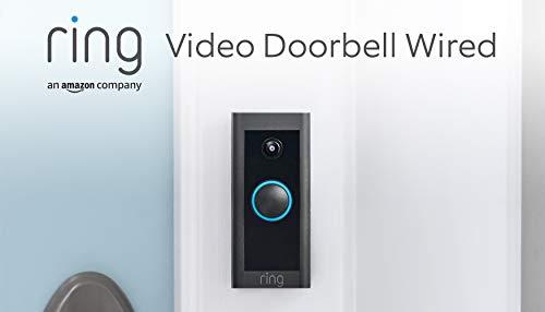Ti presentiamo Ring Video Doorbell Wired di Amazon – Video in HD, rilevazione di movimento avanzata, alimentazione via cavo | Include un periodo di prova gratuita di 90 giorni del piano Ring Protect