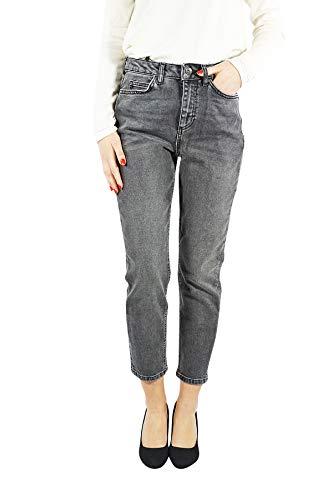 VERO MODA vmsophia Damen Jeans Skinny | Jeanshose Slim fit high-Waist | Frauen Hose Röhre im Used Look | Stretch, Farbe:Schwarz, Schrittlänge:L30, Hosengröße:W28