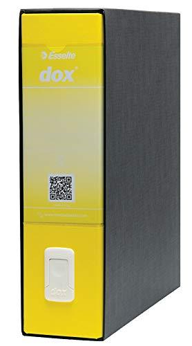 Esselte Dox 1 - Archivador de anillas con palanca (formato A4), color amarillo