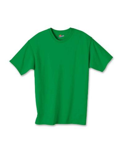 Hanes boys Cotton T-Shirt(5450)-Shamrock Green-M