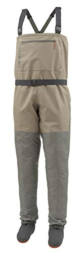 Simms Tributary Stockingfoot Waders, Men's Fly Fishing Chest Waders, Durable, Breathable, Neoprene, Waterproof, Tan, Large 9-11 Foot