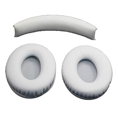 LEDMOMO Almohadillas de repuesto para auriculares Monster Beats de Dr.Dre Studio 1.0 (blanco)