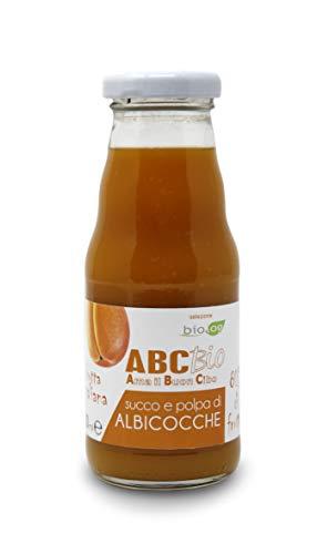 Carioni Food & Health Bio-Aprikosensaft und Fruchtfleisch, 200 ml, 12 Stück