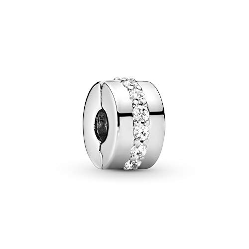 Pandora Moments Glänzendes Band Clip Sterling Silber 791972CZ