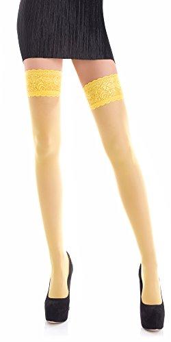 Medias amarillas suaves y cómodas