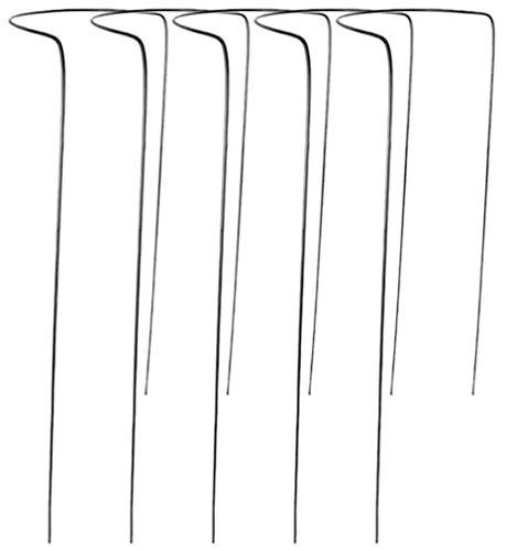 Novatool 5 Strauchstütze | halbrund 40 cm Ø - 100 cm anthrazit | Staudenhalter Blumenhalter Rankengewächs Buschstütze Pflanzenstütze Blumenstütze Staudenstütze Rankhilfe Strauchhalter Rosenstütze