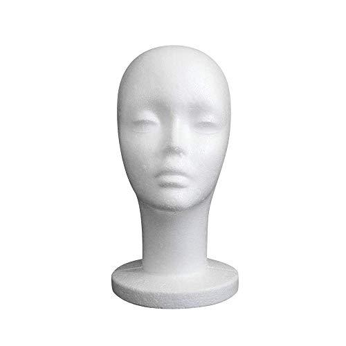Elevin(TM) Male/Female/Child Styrofoam Mannequin Manikin Head Model Foam Wig Hair Glasses Display (A)