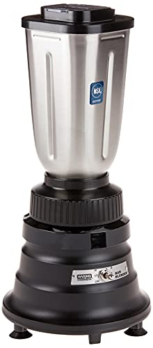Waring Commercial BB155S 2-speed 3/4 HP Bar Blender with 32 oz. Stainless Steel Container, 120V, 5-15 Plug