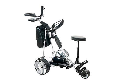 allinonegolftech Golf Push Cart with Remote Control - Lithium Battery Electric Golf Caddy Silver Body