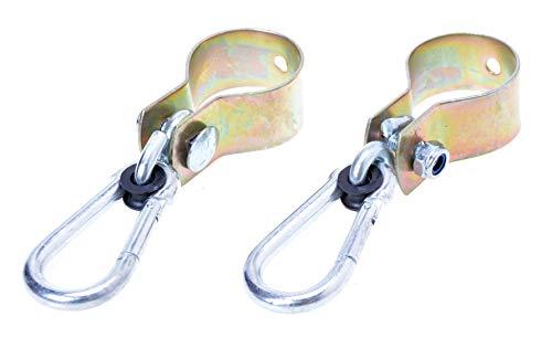 Aqbau Juego de 2 abrazaderas para columpio, diámetro de 50 mm, ganchos para columpio