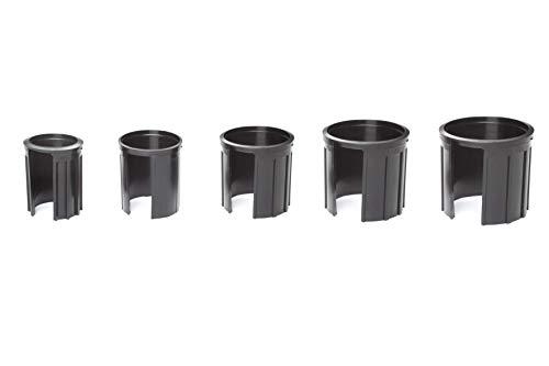 doppler Reduziereinsätze für Granit Sonnenschirmständer – Reduzierringe 5er Set – 52/48/38/32/25 mm