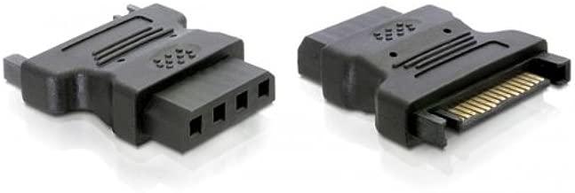 DeLOCK Adapter Power - IDE Drive > 4 Pin SATA 15 p IDE 4p Negro - Adaptador para Cable (SATA 15 p, IDE 4p, Male Connector/Female Connector, Negro)