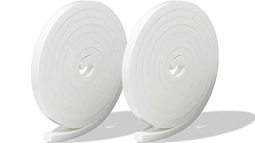 プランプ オリジナル 隙間テープ スキマッチ 白 ホワイト 厚 7 mm × 幅 10 mm × 長 2 m 2本入(合計4m) 日本製 ゴムスポンジ 防水 防音 すきま 窓 玄関 引き戸 隙間