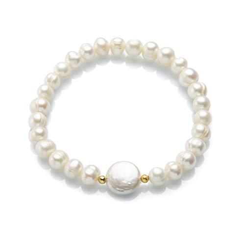 Bracelet de Perles avec Perle mère pour Femme Perles d'eau Douce Cadeau pour la mariée Femme Amante Tendance 2020 Élégant