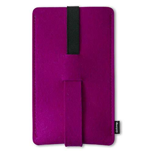 Babuschka Handytasche für iPhone 6-8 Plus & XS Max Hier ist genug Platz für zusätzlichen Schutz mit einem Bumper oder Smartcover aus Wollfilz (brombeer)