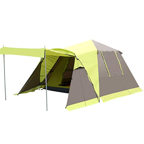 Qnlly Outdoor Instant 4-Person Pop Up Dome Tent - Easy, Automatic Setup -Ideal Shelter for Casual Family Camping Hiking,Fruitgreen