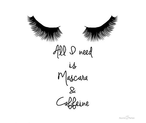 Alles wat ik nodig heb is Mascara cafeïne dikke muismat