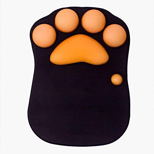 HDHUIXS Almohadilla de ratón de la pata de gato con soporte de pulsera Soft silicone RESTS RESTOS ERGONÓMICOS NO SLECT ERGONOMIC MOUSEPAD PARA OFICINA DE LA OFICINA DE JUEGO DE JUEGOS DE LA OFICINA (1