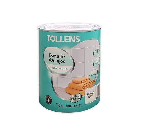 Tollens - Esmalte para azulejos al agua Brillante 750 ml (Blanco Nieve 100)